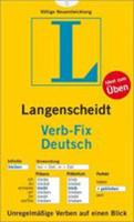 Langenscheidt Grammars and Study-AIDS: Langenscheidt Verb-Fix Deutsch