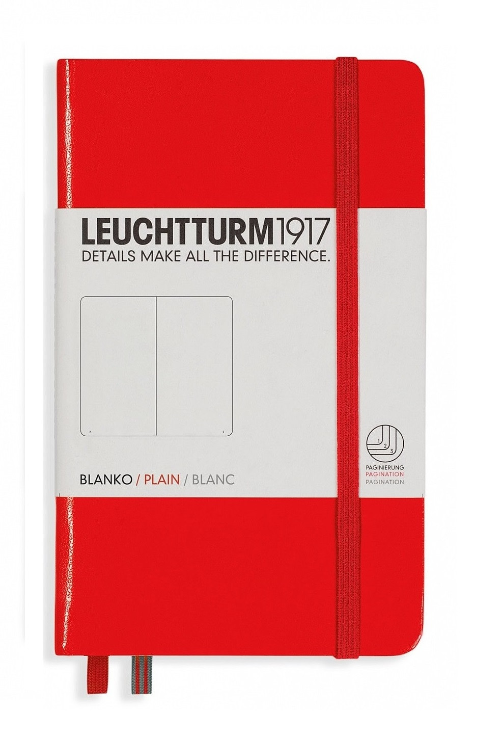Red Pocket Plain Hardcover Notebook