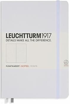 White Medium Dotted Hardcover Notebook