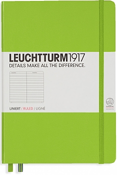 Lime Medium Ruled Hardcover Notebook
