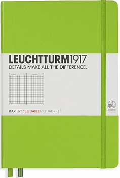 Lime Medium Grid Hardcover Notebook