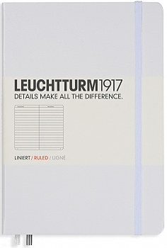 White Medium Ruled Hardcover Notebook