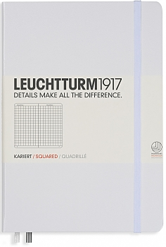 White Medium Squared Hardcover Notebook