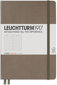 Taupe Medium Ruled Hardcover Notebook