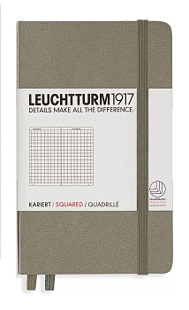 Taupe Pocket Grid Hardcover Notebook