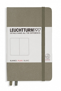 Taupe Pocket Plain Hardcover Notebook