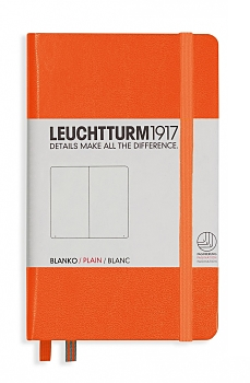 Orange Pocket Plain Hardcover Notebook