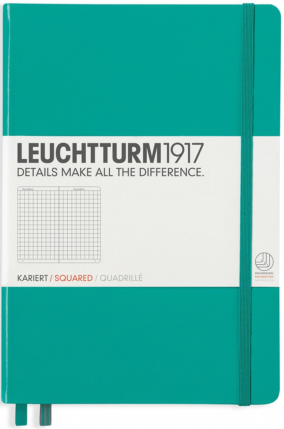 Emerald Medium Square Notebook