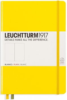 Lemon Medium  Plain Notebook