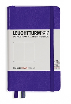 Purple Pocket Plain Hardcover Notebook
