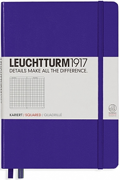 Purple Medium Squared Hardcover Notebook