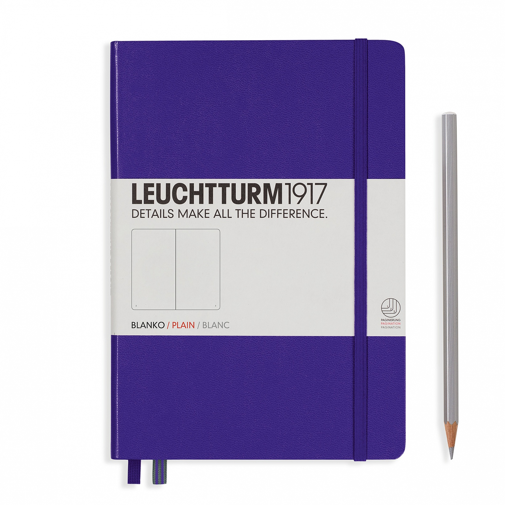 Purple Medium Plain Notebook