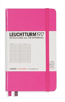New Pink Pocket Grid Notebook