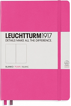 New Pink Medium Plain Hardcover Notebook