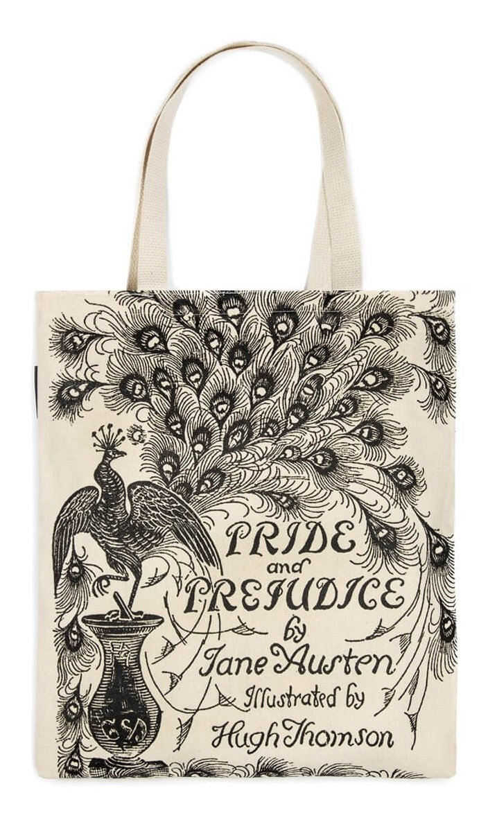pride and prejudice tote bag out of print foyles bookstore pride and prejudice tote bag