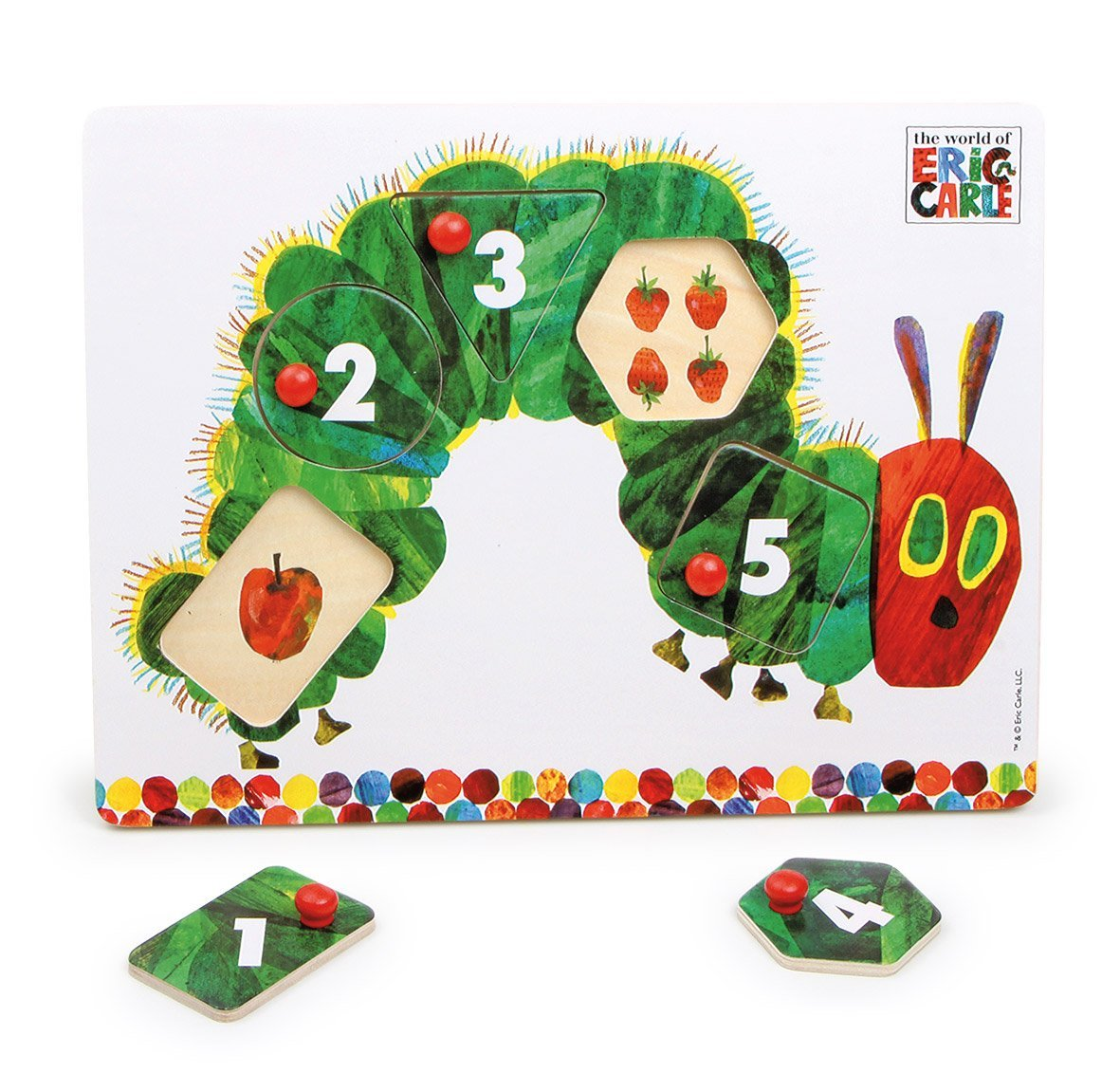 Hungry Caterpillar Peg Puzzle