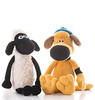 Shaun the Sheep and Bitzer Bean toy 15cm