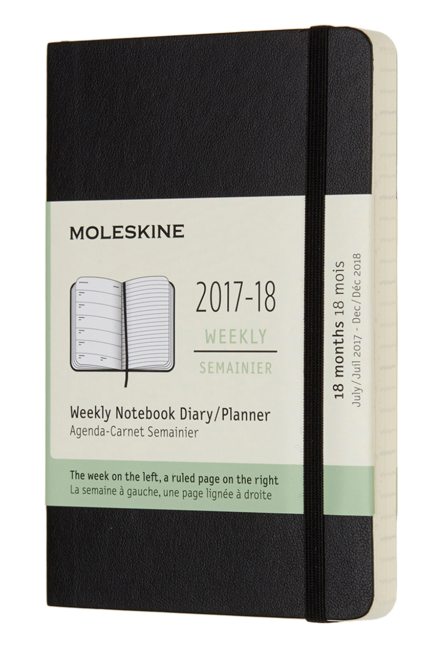 2018 Black Pocket Soft Cover Weekly ...
