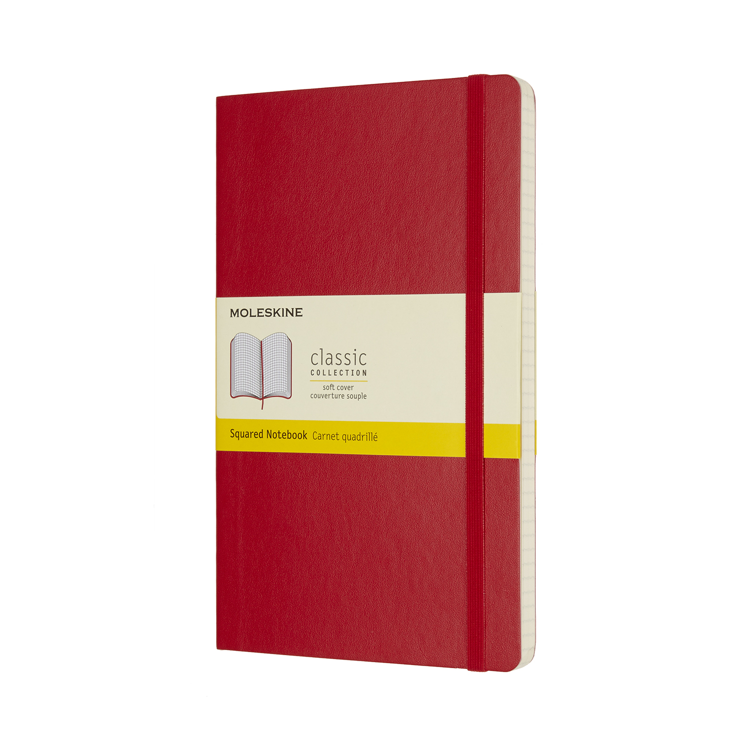 Scarlet Red Large Squared Soft Notebook