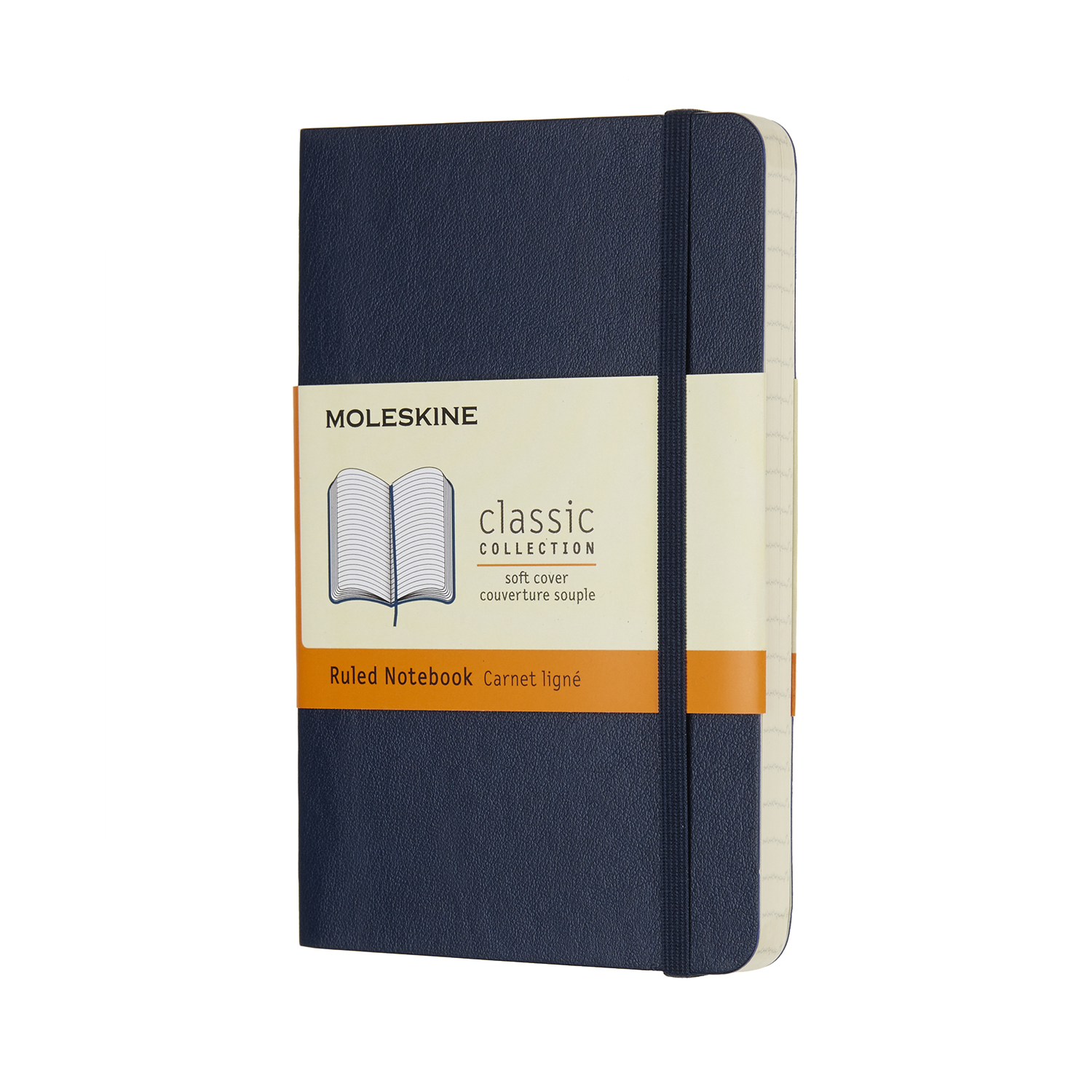 Sapphire Blue Pocket Ruled Soft Notebook