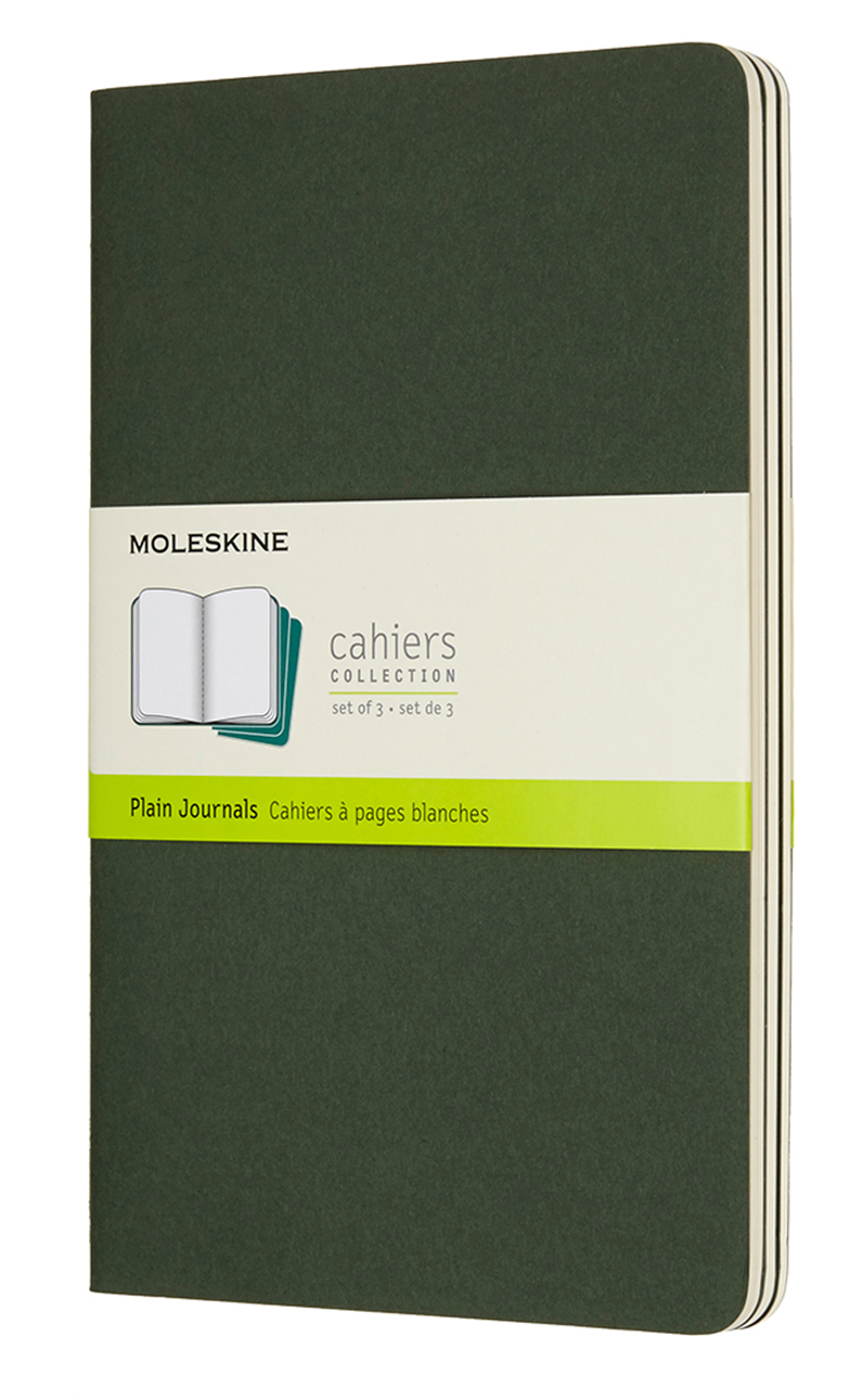 Cahier Large Plain Myrtle Green Notebook