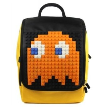 Creative Pixel Backpack Orange and Black