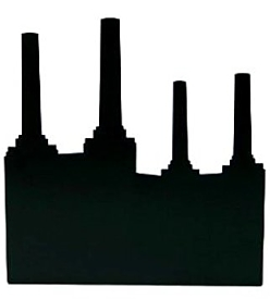 Battersea Powerstation Bookend Black
