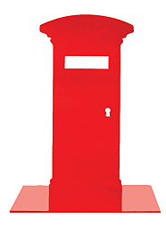 Postbox Bookend Red