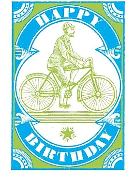 Happy Birthday Cyclist Greeting Card