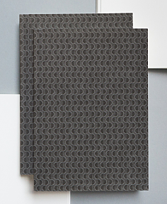 Taupe Grey Wave Print Notebook