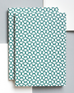 Forest Green Curve Print Notebook