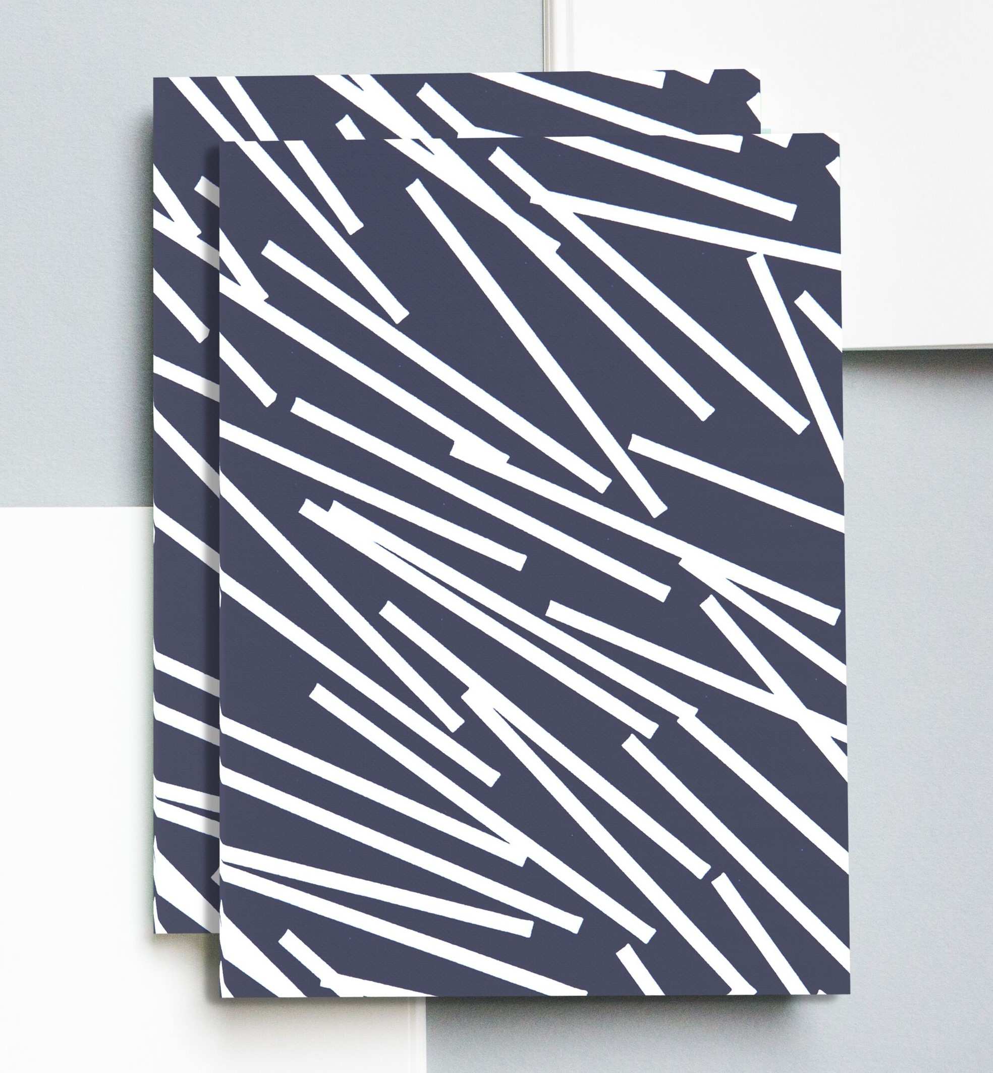 Klein Blue Dash Print Notebook