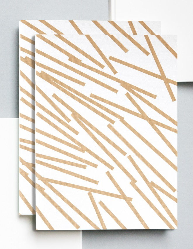 Gold Lines Print Notebook
