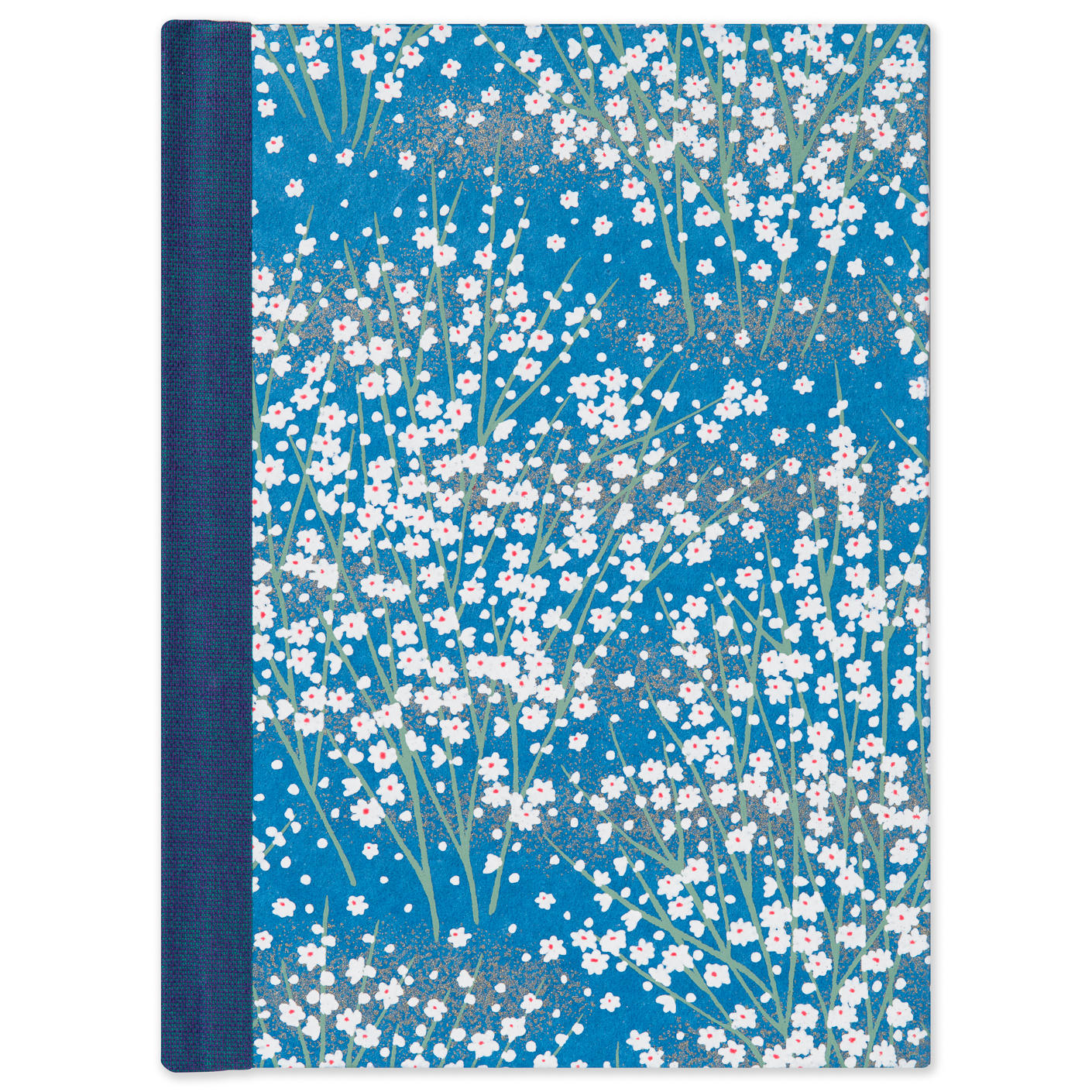 White Blossom Small Ruled Journal