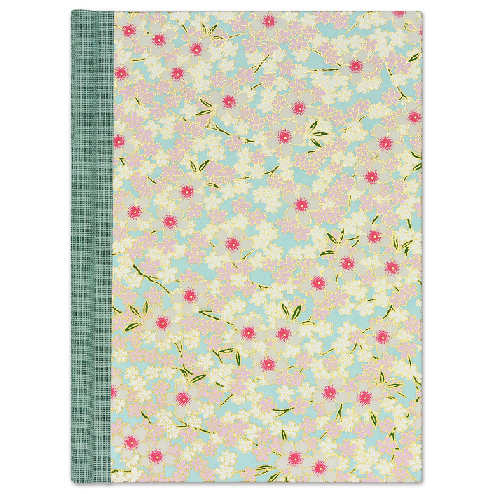 Pink Flower Centres Small Ruled Journal