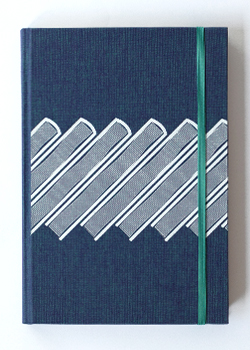 Slanted Books Blue Linen Hard Cover...