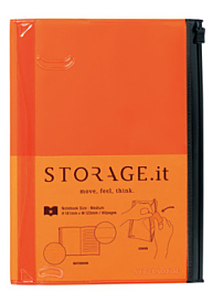 Storage.it Medium Orange Notebook