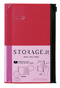 Storage It Slim Pink Notebook