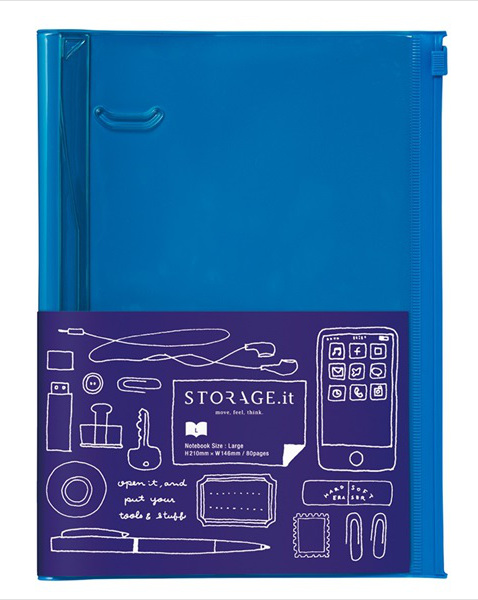 STORAGE.it Large Blue Notebook