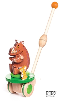 Gruffalo And Mouse Wooden Push Along Toy