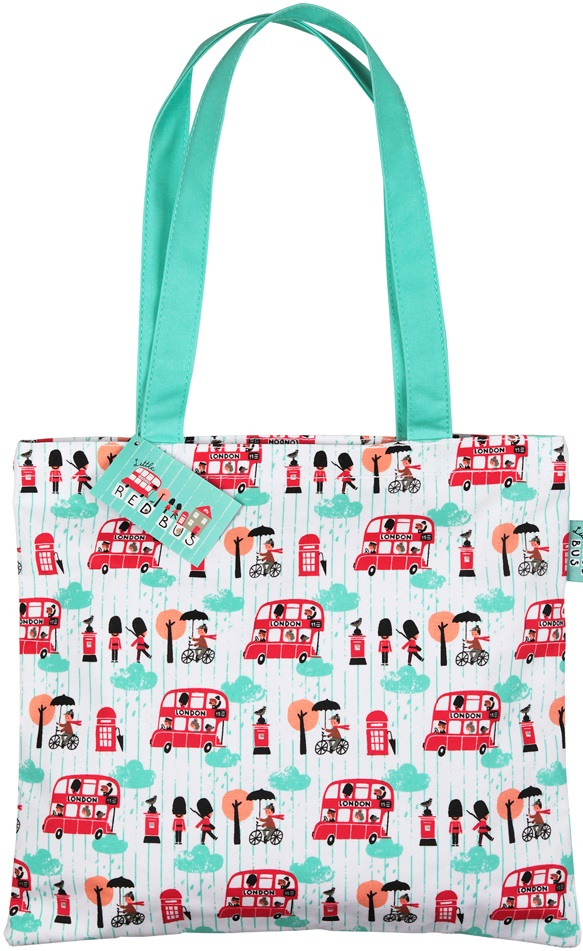 Little Red Bus Medium Tote Bag