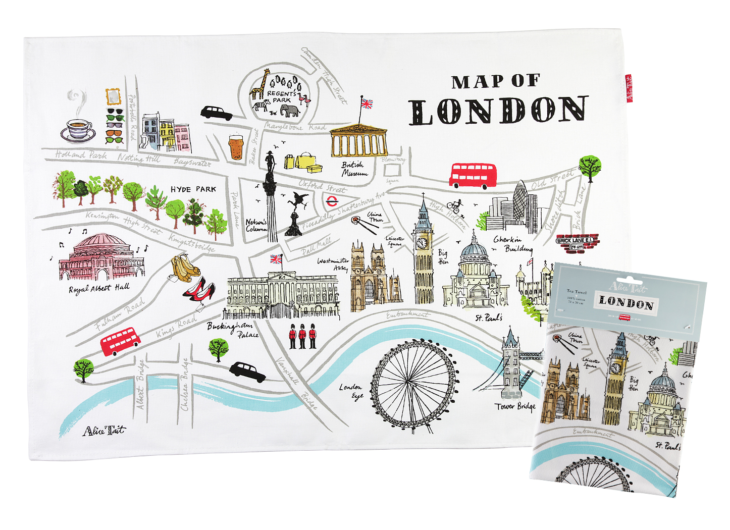 Alice Tait London Tea Towel