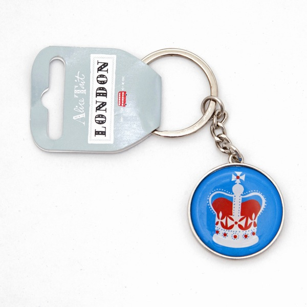 Alice Tait London Crown Keyring