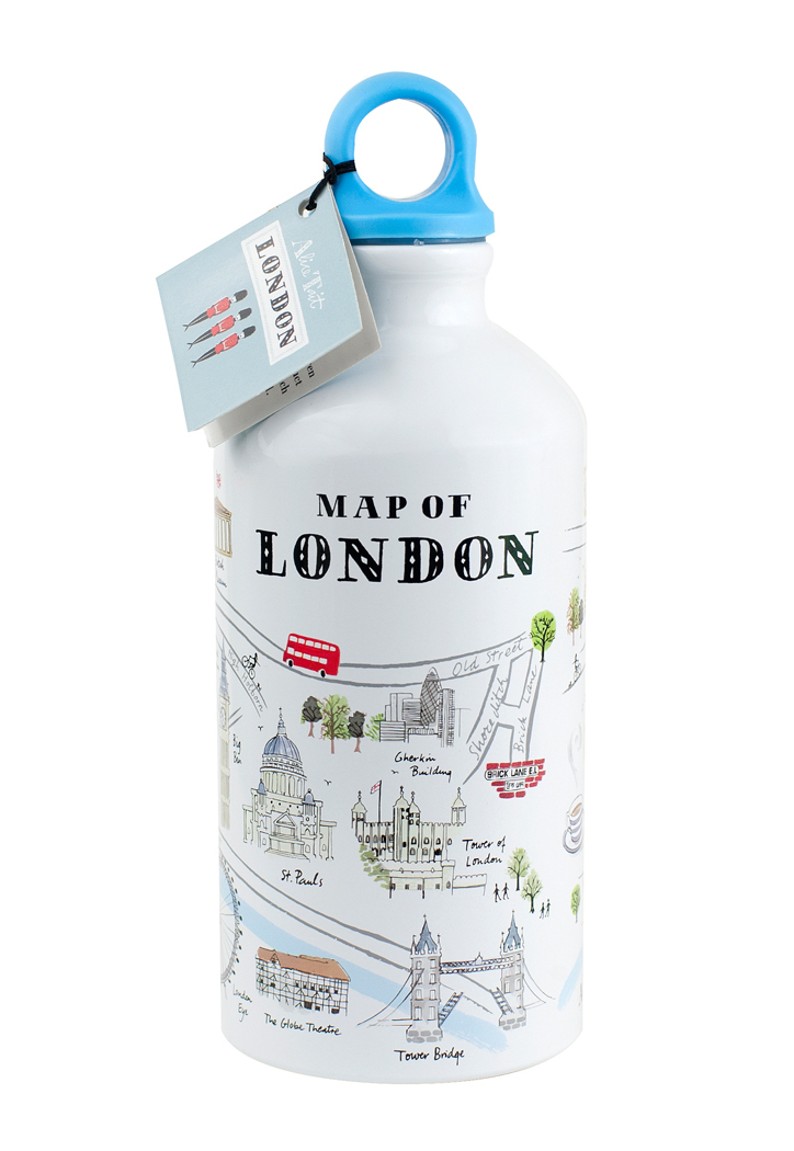 Alice Tait Map Of London Water Bottle