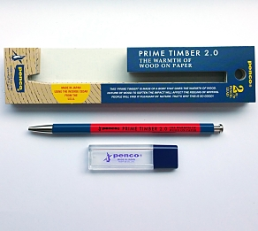 Penco Prime Timber 2mm Pencil Red and...