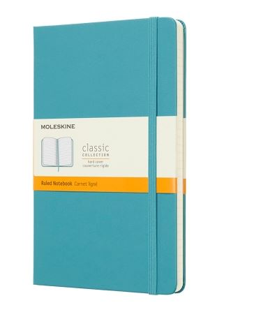 Reef Blue Large Ruled Notebook