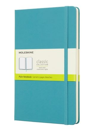 Reef Blue Large Plain Notebook