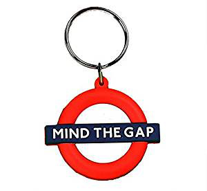 Rubber Keyring Mind the Gap