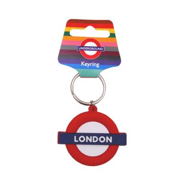 Rubber Keyring London