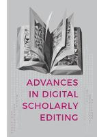 Advances in Digital Scholarly ...